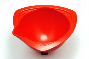 "Children's Baking Mixing Bowls, 4"" Red. Great for those little helping hands. S7652"